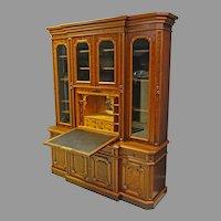 Walnut Victorian Secretary, Breakfront or Bookcase