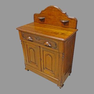 Walnut Victorian Washstand