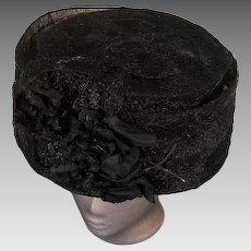Grand Edwardian Large Bucket or Basket Hat 1910-12 EX+