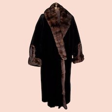 Opulent Edwardian Sable Trimmed Vintage Winter Coat