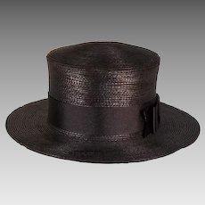 Gage Bros. Edwardian Straw Boater Ladies Vintage Hat
