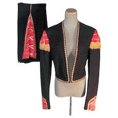 Impressive 30s-40s Men's Matador Bolero Vintage Suit