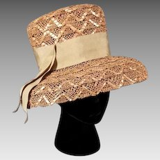 Classic 1940's-50's New Look Large Lampshade Vintage Hat