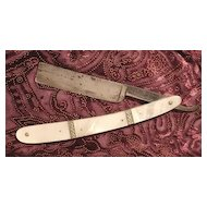 German Straight Razor, Backhaus, Mother of Pearl M.O.P. & Silver