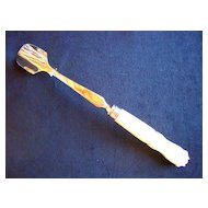 Silverplate Cheese Scoop, Carved Mother of Pearl MOP Handle