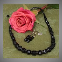 Black Beauty - A Swarovski Sensation - Necklace and Earrings Set