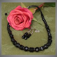 Black Beauty - A Swarovski Sensation - Necklace and Earrings Set