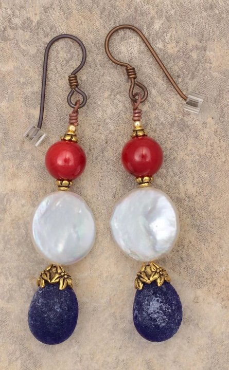 Celebrate The Red White And Blue Earrings