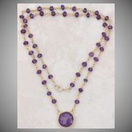 Amethyst Pendant and Gemstone Necklace