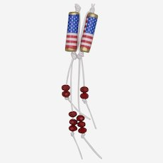 Wave the Red, White and Blue! Patriotic Paper Bead Earrings (1)