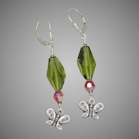 It's Butterfly Time! Swarovski Earrings in Sterling Silver