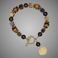 Tiger Eye and Smoky Quartz Bracelet