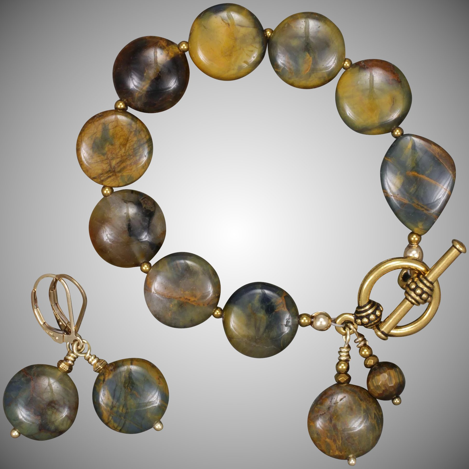 Pietersite Bracelet And Earrings Set Click To Expand