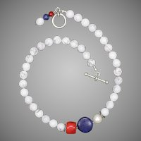 Celebrate Red White and Blue Necklace