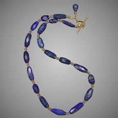 Luxurious and Lovely Lapis Lazuli Necklace