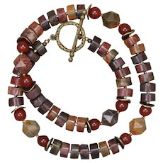Red Creek Jasper and Carnelian Necklace