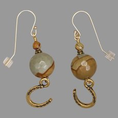 Wild Horse Picture Jasper 'Lucky' Earrings
