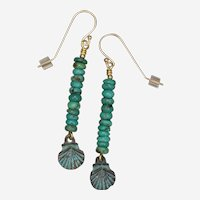 Turquoise and Sea Shell Earrings