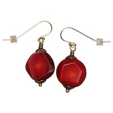 Red Coral 'Passion' Earrings
