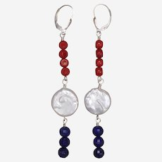 Red White and Blue Celebration Earrings
