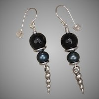 Blue Tiger Eye 'Ocean' Earrings