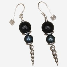 Blue Tiger Eye 'Ocean' Earrings