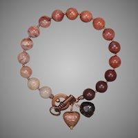 'The Key to My Heart' Porcelain Jasper Bracelet with Copper
