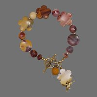 Mookaite Jasper 'The Bee and the Bird' Garden Bracelet