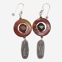 'Women at Work' Jasper Earrings