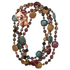 Long Earthy Jasper Necklace