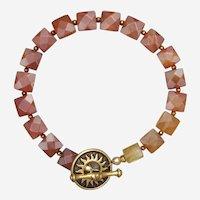Carnelian and Citrine Sunshine Bracelet