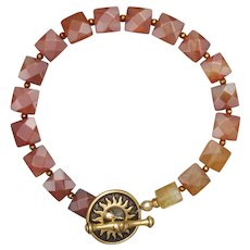 Carnelian and Citrine Sunshine Bracelet