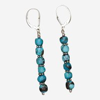 Snazzy Turquoise Shish Kebab Earrings