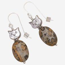 'Leo' the Cat Lover's Cat Earrings
