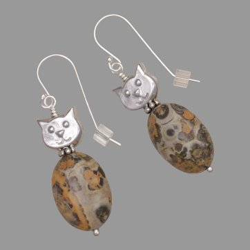 'Leo' the Cat Lover's Cat Earrings