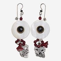 Day of the Dead Earrings of Katrina and Guitarra