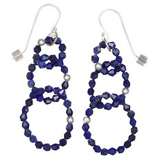 Rings of Lapis Lazuli Earrings