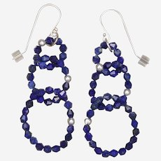 Rings of Lapis Lazuli Earrings
