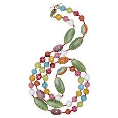 Gemstone Blooming Spring Necklace