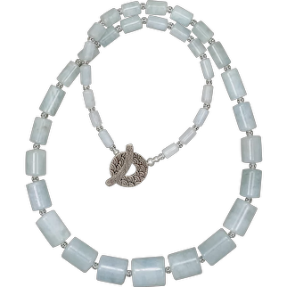 Graduated Natural Aquamarine Necklace