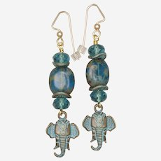 The Opulent Elephant Earrings