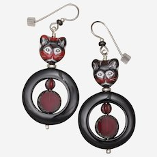 Cat Earrings - Meet Wobbles!