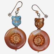 Cat Earrings - Meet sisters Bluebell and Marigold!
