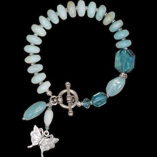 Summer Breeze Bracelet with Amazonite and Swarovski Crystals