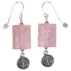 Rose Quartz 'Prosperity' Earrings