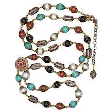 Tibetan Beads Long Necklace