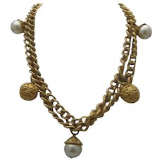 Gorgeous Tears of Mermaids Golden Chain Necklace c1980's