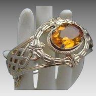 Stunning French Renaissance Style Amber Glass Bracelet