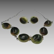 Operculum Shivas Eye Necklace Earrings Germany