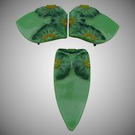 Czech Art Deco Bakelite Dress Clip and Buckle